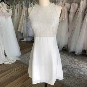 Vintage Beaded White Dress 90's Style Wedding